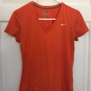 Orange Nike Dri fit T-shirt